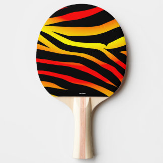 Tiger Stripes Animal Print Ping Pong Paddle