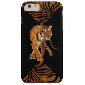 Tiger Stripes Black Print Tough iPhone 6 Plus Case