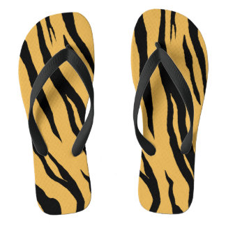 Tiger Stripes Flip Flops