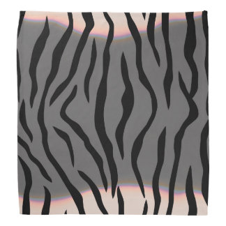 Tiger Stripes Gray Bandana