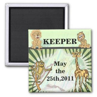 Tiger Stripes Jungle Baby Reminder Magnets