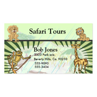 Tiger Stripes Jungle Safari Business Card