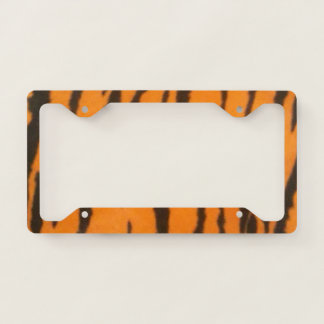 Tiger Stripes License Plate Frame
