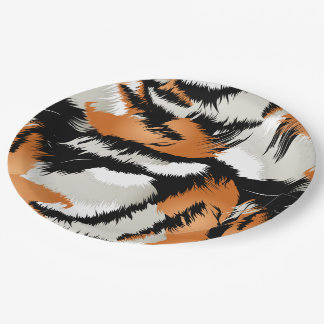 Tiger stripes paper plate