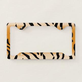 Tiger Stripes Pattern Licence Plate Frame