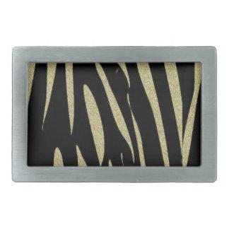 Tiger Stripes Print Wild Safari Design Belt Buckle