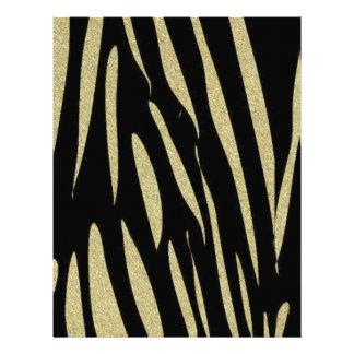 Tiger Stripes Print Wild Safari Design Letterhead