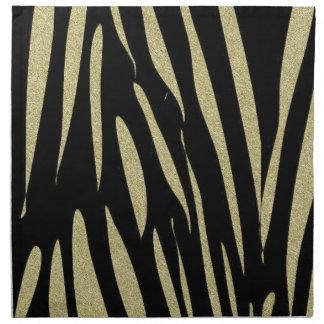 Tiger Stripes Print Wild Safari Design Napkin