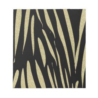 Tiger Stripes Print Wild Safari Design Notepad