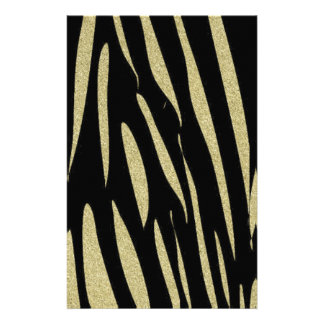 Tiger Stripes Print Wild Safari Design Stationery