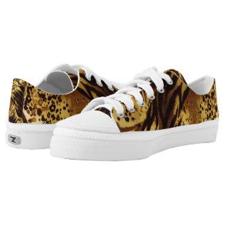 Tiger Stripes Safari Print, Zipz Low Top Shoes