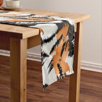 Tiger stripes short table runner