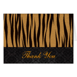 Tiger Stripes Thank You Card
