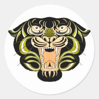 Tiger Style 1 Classic Round Sticker