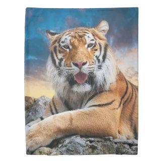 Tiger Sunset (1 side) Twin Duvet Cover