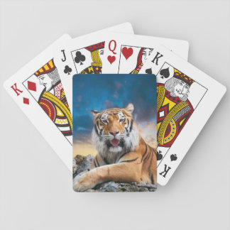 Tiger Sunset Playing Cards