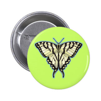 Tiger Swallowtail Butterfly 2 Inch Round Button