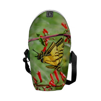 Tiger Swallowtail Butterfly and Wildflowers Courier Bag