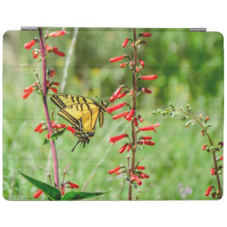 Tiger Swallowtail Butterfly and Wildflowers iPad Cover