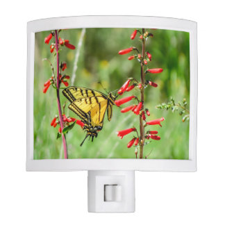 Tiger Swallowtail Butterfly and Wildflowers Night Lites