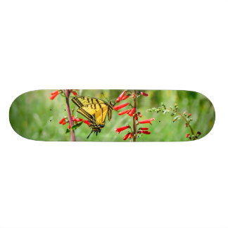 Tiger Swallowtail Butterfly and Wildflowers Skateboard Deck