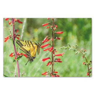 Tiger Swallowtail Butterfly and Wildflowers Tissue Paper