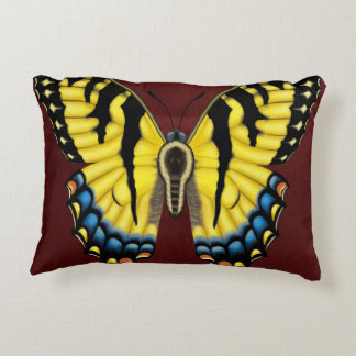Tiger Swallowtail Butterfly Decorative Pillow