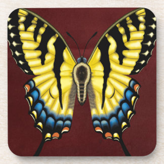 Tiger Swallowtail Butterfly Drink Coaster
