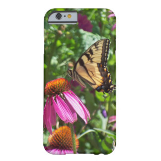 Tiger Swallowtail Butterfly & flowers Barely There iPhone 6 Case
