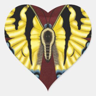 Tiger Swallowtail Butterfly Heart Sticker