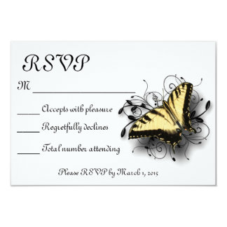 "Tiger Swallowtail Butterfly 3.5"" X 5"" Invitation Card"