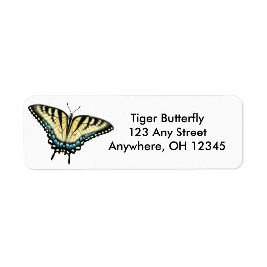 Tiger Swallowtail Butterfly Label Return Address Label