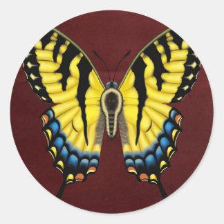 Tiger Swallowtail Butterfly Round Sticker