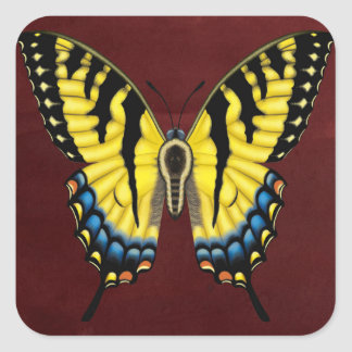 Tiger Swallowtail Butterfly Square Sticker