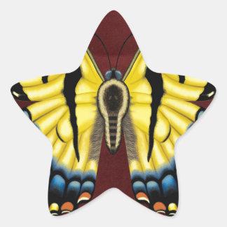 Tiger Swallowtail Butterfly Star Sticker