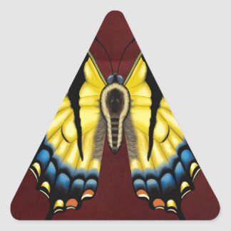 Tiger Swallowtail Butterfly Triangle Sticker