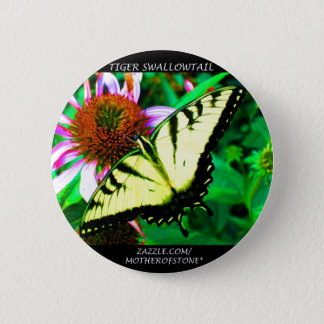 Tiger Swallowtail Button (transparent white)