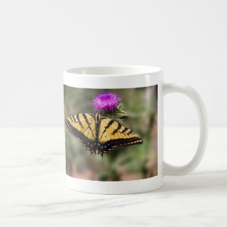 Tiger Swallowtail on a Thistle Coffee Mug