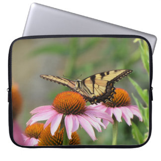 Tiger Swallowtail on Purple Coneflower Computer Sleeves