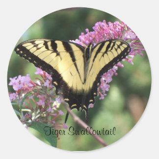 Tiger Swallowtail Round Sticker