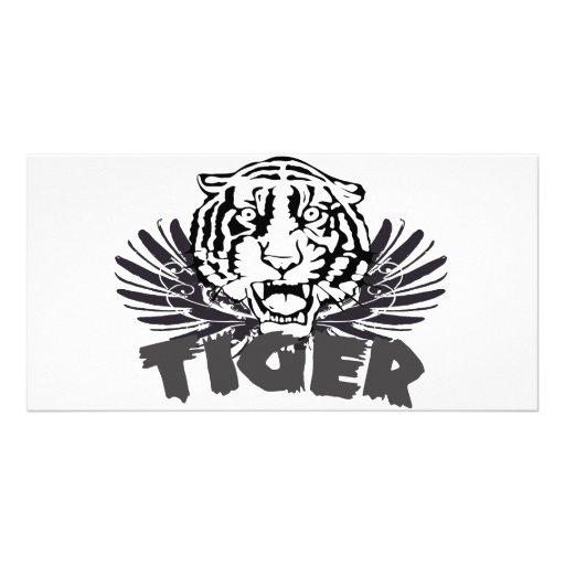 Tiger t-shirt customized photo card