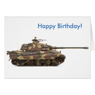 Tiger Tank image for Birthday greeting card