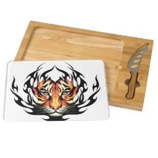 Tiger Tattoo Round Cheeseboard