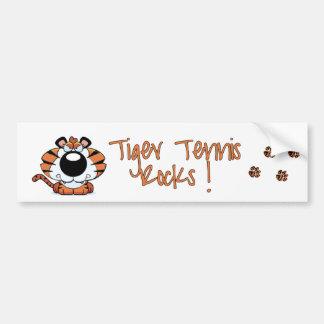 Tiger Tennis Bumper Sticker