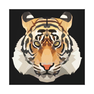 Tiger the king canvas print