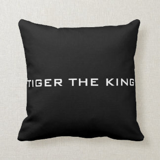 Tiger the king throw pillow