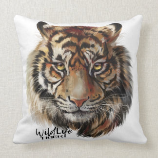 """Tiger"" Throw Pillow"