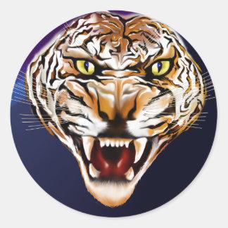 Tiger Tiger Burning Bright Classic Round Sticker