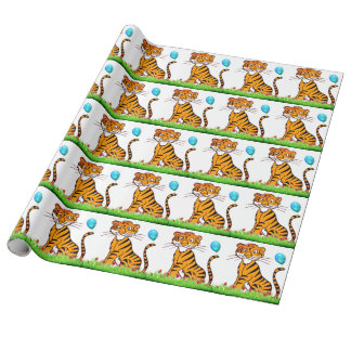 Tiger treasure wrapping paper