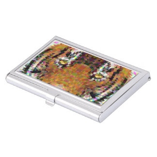 Tiger Triangle Mandala Business Card Holder